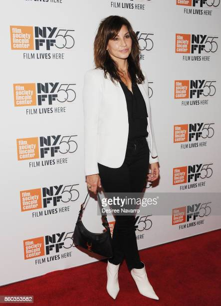 Actress Gina Gershon attends the 55th New York Film Festival 'Joan Didion The Center Will Not Hold' at Alice Tully Hall on October 11 2017 in New...