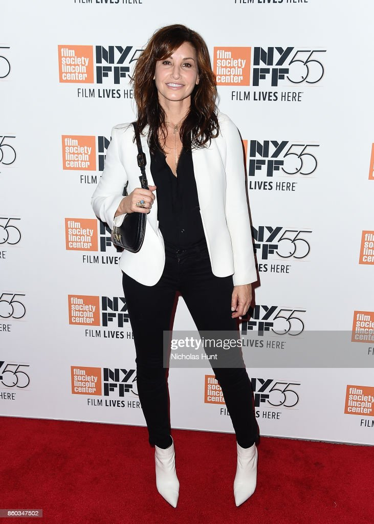 Actress Gina Gershon attends the 55th New York Film Festival presentation of - 'Joan Didion: The Center Will Not Hold' at Alice Tully Hall on October 11, 2017 in New York City.