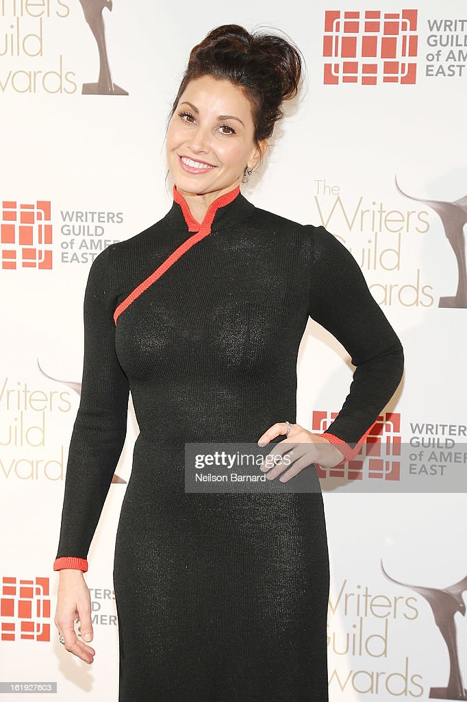 Actress <a gi-track='captionPersonalityLinkClicked' href=/galleries/search?phrase=Gina+Gershon&family=editorial&specificpeople=203099 ng-click='$event.stopPropagation()'>Gina Gershon</a> attends the 65th annual Writers Guild East Coast Awards at B.B. King Blues Club & Grill on February 17, 2013 in New York City.