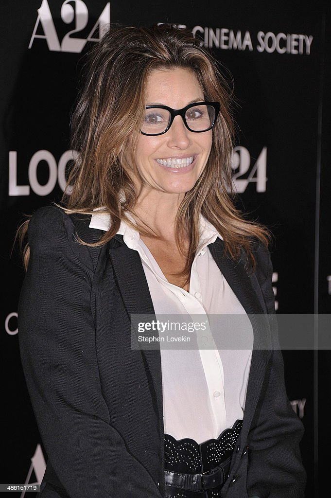 Actress Gina Gershon attends the A24 and The Cinema Society premiere of 'Locke' at The Paley Center for Media on April 22, 2014 in New York City.