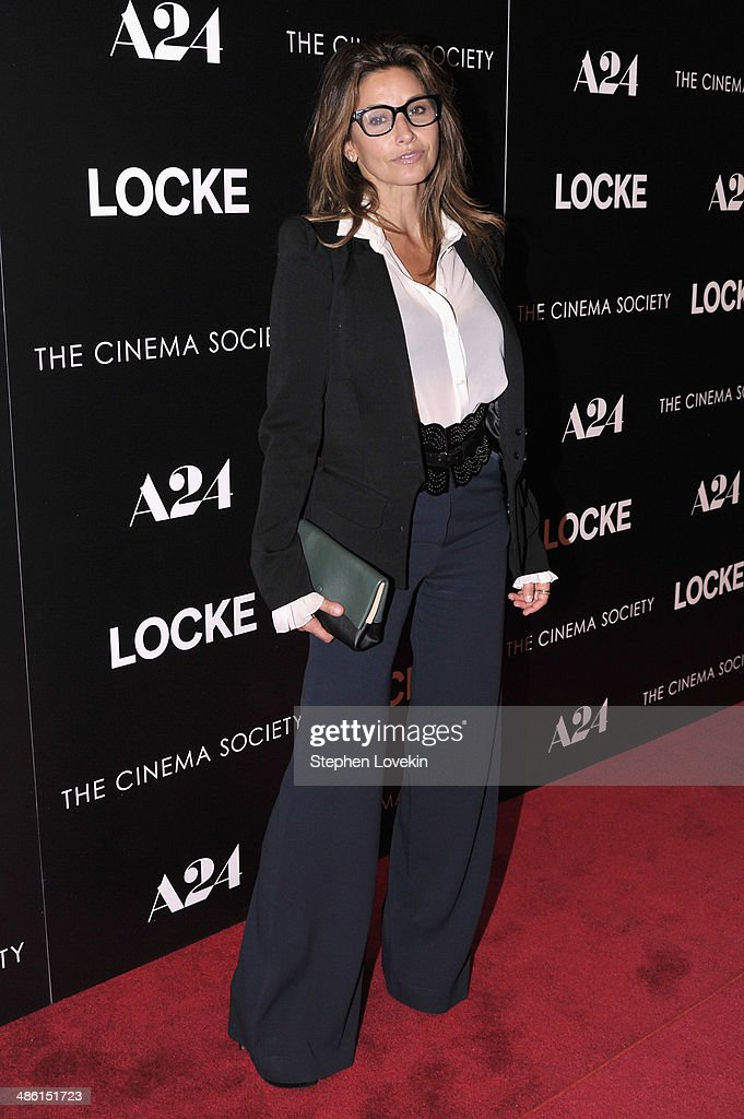 Actress <a gi-track='captionPersonalityLinkClicked' href=/galleries/search?phrase=Gina+Gershon&family=editorial&specificpeople=203099 ng-click='$event.stopPropagation()'>Gina Gershon</a> attends the A24 and The Cinema Society premiere of 'Locke' at The Paley Center for Media on April 22, 2014 in New York City.