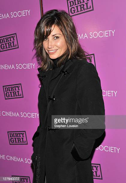 Actress Gina Gershon attends The Cinema Society The Weinstein Company screening of 'Dirty Girl' at Landmark's Sunshine Cinema on October 3 2011 in...