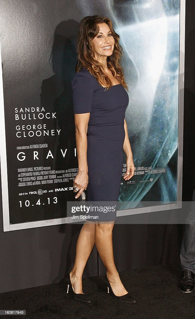 Actress <a gi-track='captionPersonalityLinkClicked' href=/galleries/search?phrase=Gina+Gershon&family=editorial&specificpeople=203099 ng-click='$event.stopPropagation()'>Gina Gershon</a> attends the 'Gravity' premiere at AMC Lincoln Square Theater on October 1, 2013 in New York City.