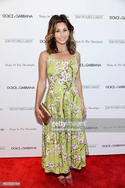 Actress Gina Gershon attends the 'Magic In The Moonlight' premiere at the Paris Theater on July 17 2014 in New York City