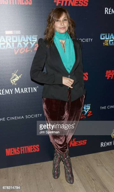 Actress Gina Gershon attends the screening of Marvel Studios' 'Guardians Of The Galaxy Vol 2' hosted by The Cinema Society at the Whitby Hotel on May...