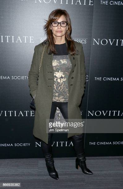 Actress Gina Gershon attends the screening of Sony Pictures Classics' 'Novitiate' hosted by Miu Miu and The Cinema Society at The Landmark at 57 West...