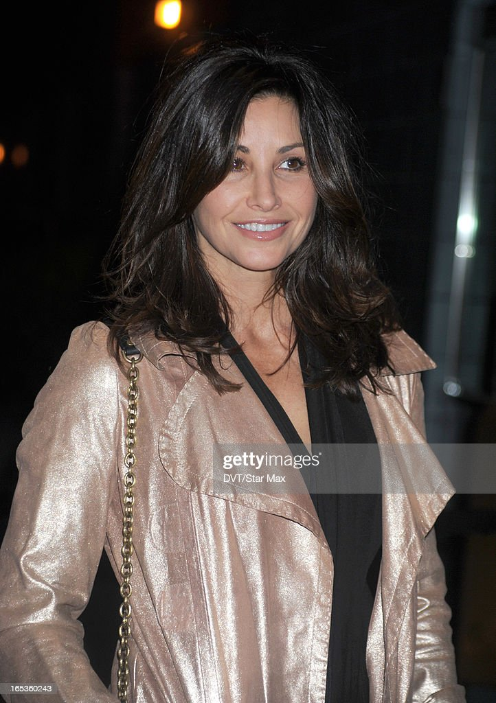 Actress <a gi-track='captionPersonalityLinkClicked' href=/galleries/search?phrase=Gina+Gershon&family=editorial&specificpeople=203099 ng-click='$event.stopPropagation()'>Gina Gershon</a> is seen on April 2, 2013 in New York City.