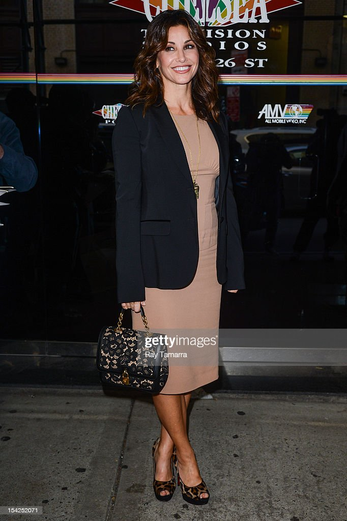 Actress Gina Gershon leaves the 'Wendy Williams Show' taping at Chelsea Studios on October 16, 2012 in New York City.