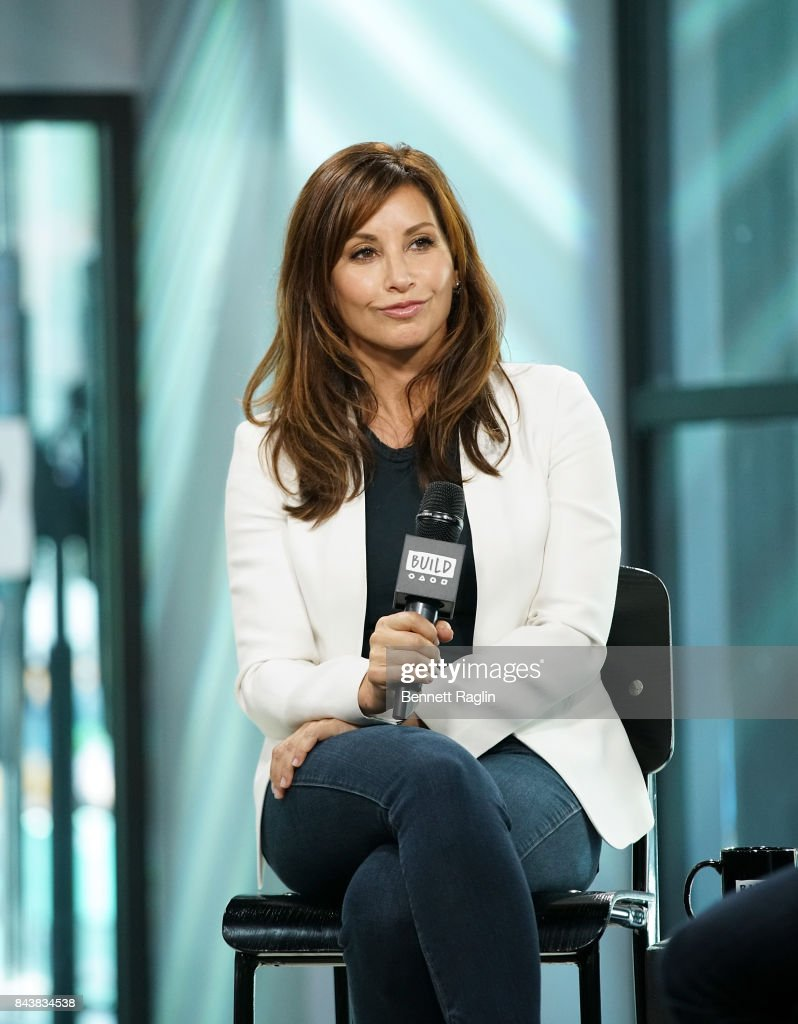 Actress Gina Gershon visits Build to discuss the movie '9/11' at Build Studio on September 7, 2017 in New York City.