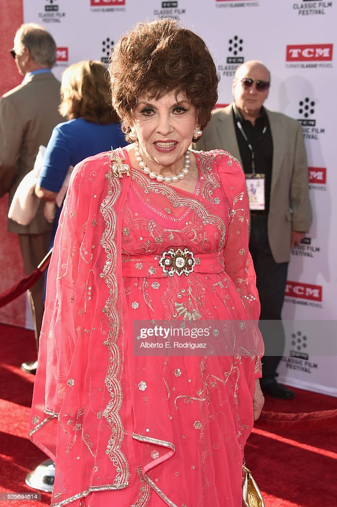 Actress Gina Lollobrigida attends 'All The President's Premiere' during the TCM Classic Film Festival 2016 Opening Night on April 28, 2016 in Los Angeles, California. 25826_006