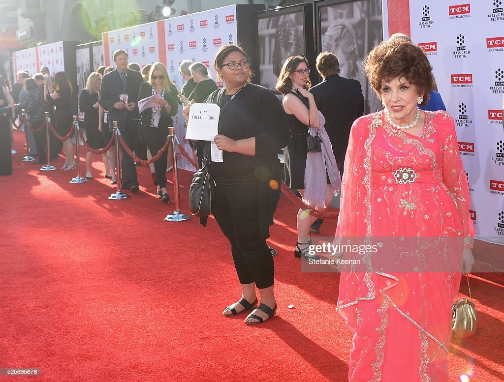 Actress <a gi-track='captionPersonalityLinkClicked' href=/galleries/search?phrase=Gina+Lollobrigida&family=editorial&specificpeople=93465 ng-click='$event.stopPropagation()'>Gina Lollobrigida</a> attends 'All The President's Premiere' during the TCM Classic Film Festival 2016 Opening Night on April 28, 2016 in Los Angeles, California. 25826_005