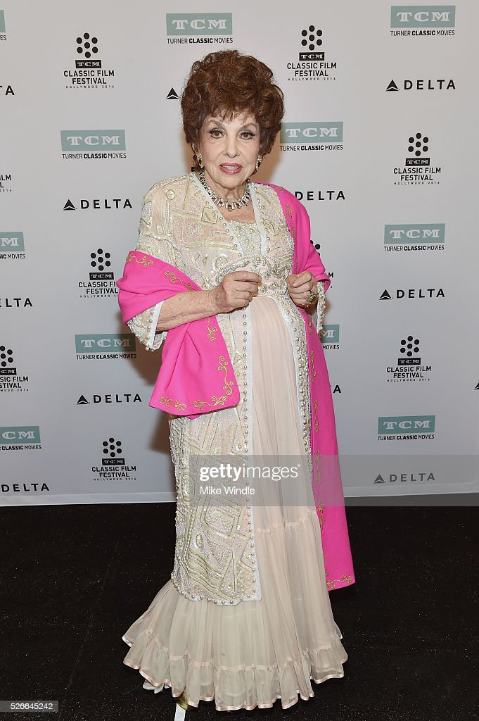 Actress Gina Lollobrigida attends 'Buona Sera, Mrs. Campbell' screening during day 3 of the TCM Classic Film Festival 2016 on April 30, 2016 in Los Angeles, California. 25826_008