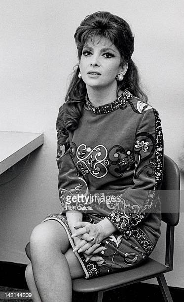 Actress Gina Lollobrigida attends the taping of 'The Dick Cavett Show' on January 26 1969 at the ABC Entertainment Center in New York City