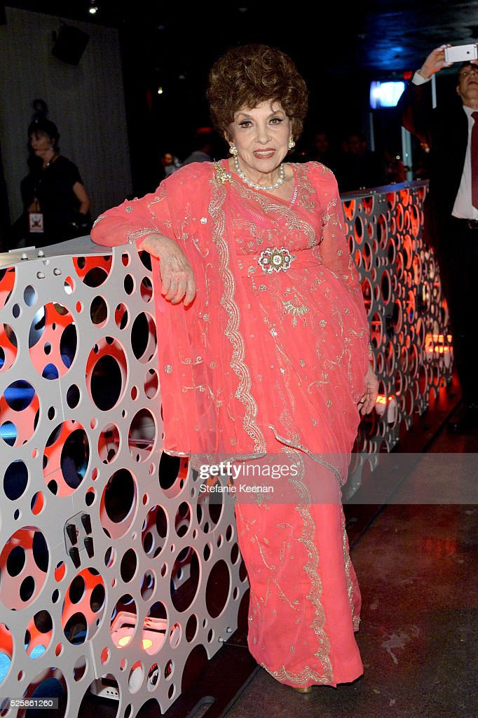 Actress Gina Lollobrigida attends the TCM Classic Film Festival 2016 Opening Night After Party on April 28, 2016 in Los Angeles, California. 25826_005