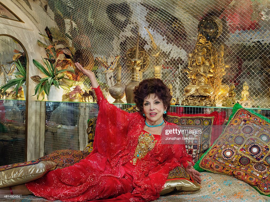 Actress <a gi-track='captionPersonalityLinkClicked' href=/galleries/search?phrase=Gina+Lollobrigida&family=editorial&specificpeople=93465 ng-click='$event.stopPropagation()'>Gina Lollobrigida</a> is photographed for Vanity Fair Magazine on May 21, 2014 at home in her villa in Rome, Italy. PUBLISHED