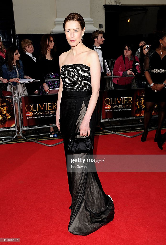 Actress Gina McKee attends The Olivier Awards 2011 at Theatre Royal on March 13, 2011 in London, England.