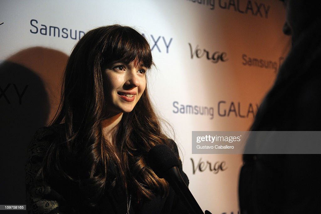 Actress Gina Piersanti attends The Verge List Party at the Samsung Gallery Launch Party To Celebrate The Verge List - 2013 on January 19, 2013 in Park City, Utah.