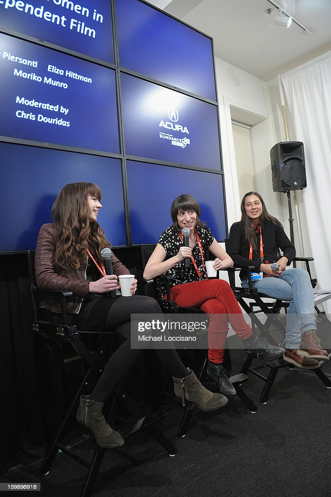 Actress Gina Piersanti, filmmaker Eliza Hittman and Producer Mariko Munro attend the Acura Master Class - Emerging Women in Independent Film on January 22, 2013 in Park City, Utah.