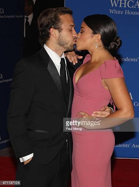 Actress Gina Rodriguez and Henri Esteve attend the 101st Annual White House Correspondents' Association Dinner at the Washington Hilton on April 25...
