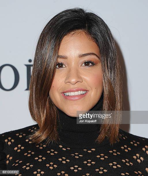 Actress Gina Rodriguez arrives at Moet And Chandon Celebrates 2nd Annual Moet Moment Film Festival And Kick Off Of Golden Globes Week at Doheny Room...