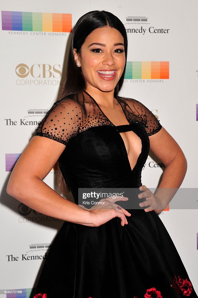 Actress Gina Rodriguez arrives at the 38th Annual Kennedy Center Honors Gala at the Kennedy Center for the Performing Arts on December 6, 2015 in Washington, DC.