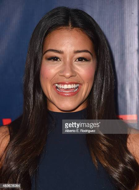 Actress Gina Rodriguez attends CBS' 2015 Summer TCA party at the Pacific Design Center on August 10 2015 in West Hollywood California