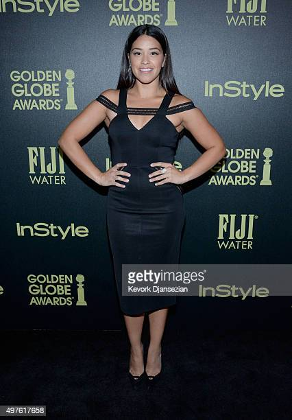 Actress Gina Rodriguez attends Hollywood Foreign Press Association and InStyle Celebration of The 2016 Golden Globe Award Season at Ysabel on...