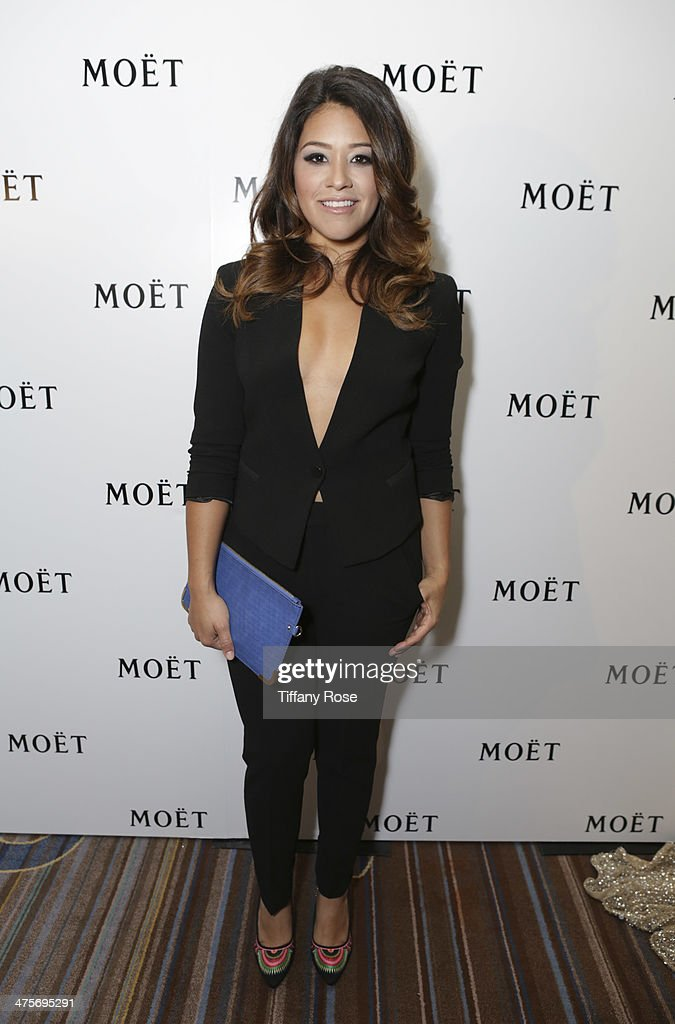 Actress Gina Rodriguez attends Moet At The 17th Annual National Hispanic Media Coalition Impact Awards at the Beverly Wilshire Four Seasons Hotel on February 28, 2014 in Beverly Hills, California.