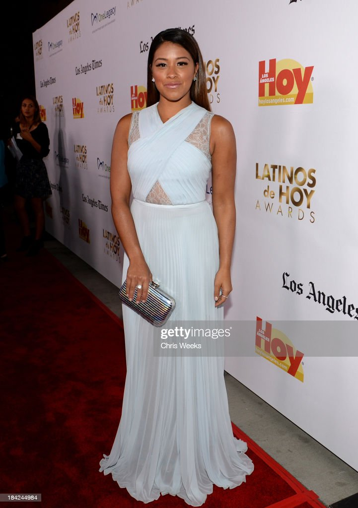 Actress Gina Rodriguez attends the '2013 Latinos de Hoy Awards' Sponsored by OneLegacy on Saturday, October 12 at Los Angeles Times Chandler Auditorium in Los Angeles, California.