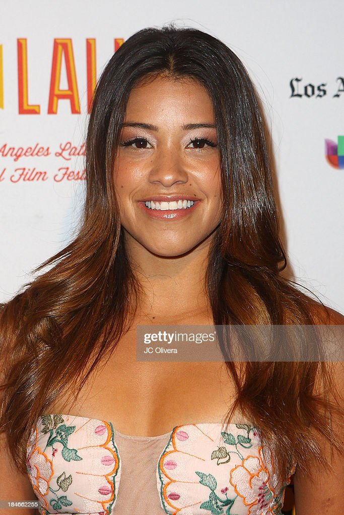 Actress Gina Rodriguez attends The 2013 Los Angeles Latino International Film Festival - Closing Night Premiere of 'Nosotros Los Nobles' at The Orpheum Theatre on October 14, 2013 in Los Angeles, California.