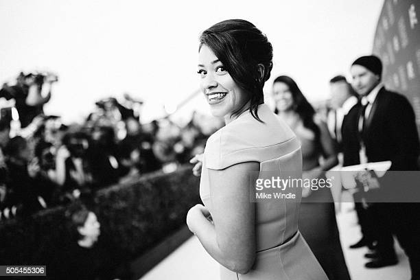 Actress Gina Rodriguez attends the 21st annual Critics' Choice Awards at Barker Hangar on on January 17 2016 in Santa Monica California