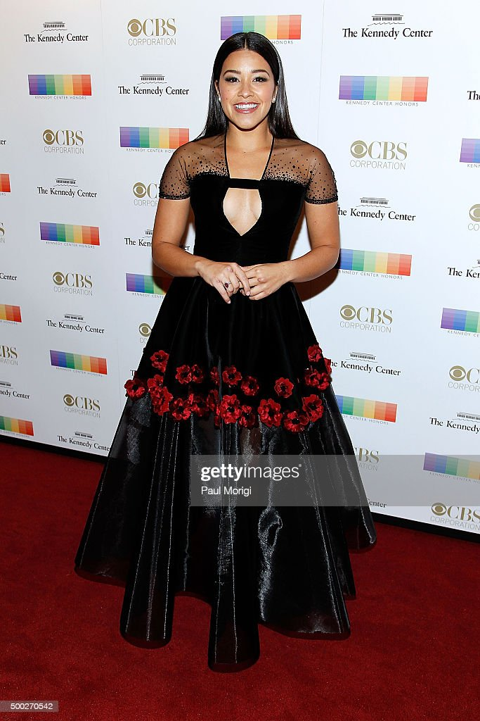 Actress Gina Rodriguez attends the 38th Annual Kennedy Center Honors Gala at John F. Kennedy Center for the Performing Arts on December 6, 2015 in Washington, DC.