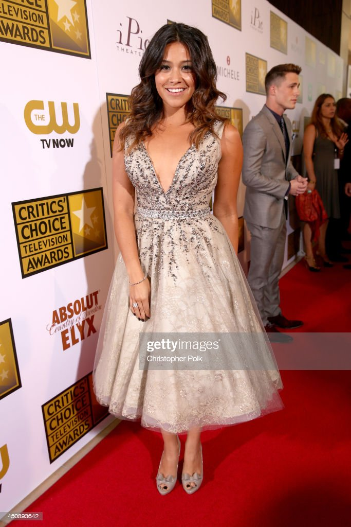 Actress <a gi-track='captionPersonalityLinkClicked' href=/galleries/search?phrase=Gina+Rodriguez+-+Actress+-+Born+1985&family=editorial&specificpeople=11423747 ng-click='$event.stopPropagation()'>Gina Rodriguez</a> attends the 4th Annual Critics' Choice Television Awards at The Beverly Hilton Hotel on June 19, 2014 in Beverly Hills, California.