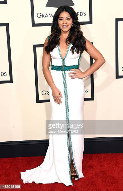 Actress Gina Rodriguez attends The 57th Annual GRAMMY Awards at the STAPLES Center on February 8 2015 in Los Angeles California