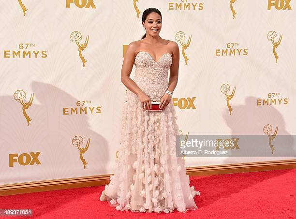 Actress Gina Rodriguez attends the 67th Emmy Awards at Microsoft Theater on September 20 2015 in Los Angeles California 25720_001