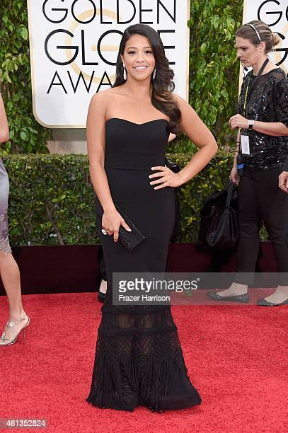 Actress Gina Rodriguez attends the 72nd Annual Golden Globe Awards at The Beverly Hilton Hotel on January 11 2015 in Beverly Hills California