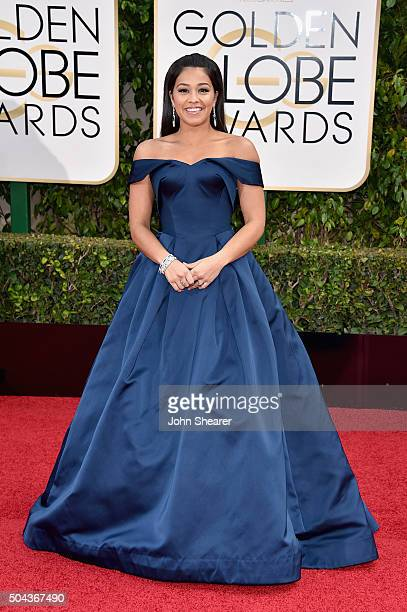 Actress Gina Rodriguez attends the 73rd Annual Golden Globe Awards held at the Beverly Hilton Hotel on January 10 2016 in Beverly Hills California