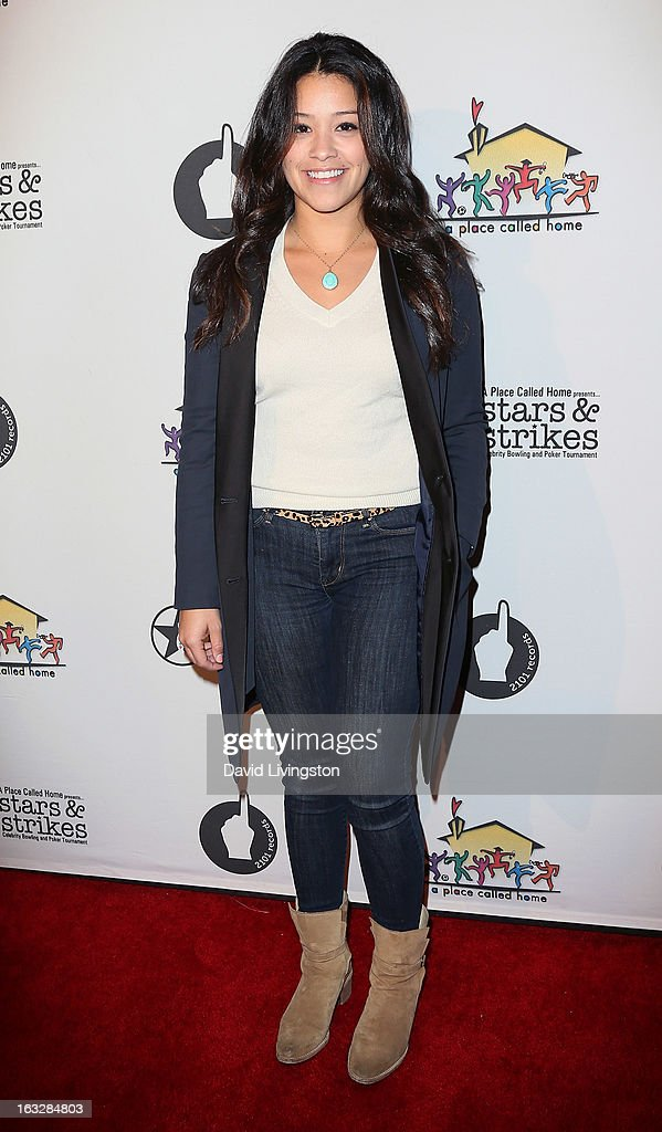 Actress Gina Rodriguez attends the 7th Annual 'Stars & Strikes' Celebrity Bowling and Poker Tournament benefiting A Place Called Home at PINZ Bowling & Entertainment Center on March 6, 2013 in Studio City, California.