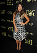 Actress Gina Rodriguez attends the Hollywood Foreign Press Association and InStyle's celebration of the 2015 Golden Globe award season at Fig Olive...