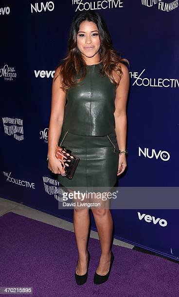 Actress Gina Rodriguez attends the NUVOtv Series Launch Party at Siren Studios on February 18 2014 in Hollywood California