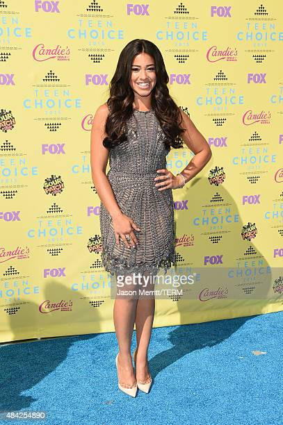 Actress Gina Rodriguez attends the Teen Choice Awards 2015 at the USC Galen Center on August 16 2015 in Los Angeles California
