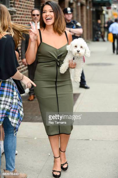 Actress Gina Rodriguez leaves the 'The Late Show With Stephen Colbert' taping at the Ed Sullivan Theater on May 16 2017 in New York City