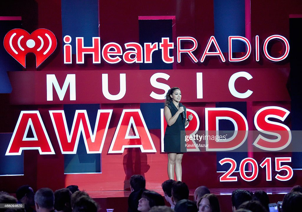 Actress Gina Rodriguez speaks onstage during the 2015 iHeartRadio Music Awards which broadcasted live on NBC from The Shrine Auditorium on March 29, 2015 in Los Angeles, California.