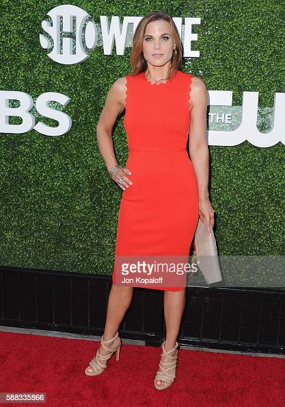 Actress Gina Tognoni arrives at CBS CW Showtime Summer TCA Party at Pacific Design Center on August 10 2016 in West Hollywood California