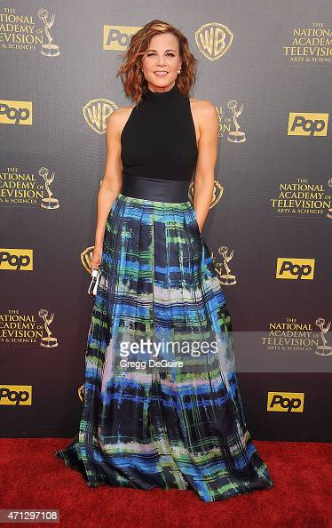 Actress Gina Tognoni arrives at the 42nd Annual Daytime Emmy Awards at Warner Bros Studios on April 26 2015 in Burbank California