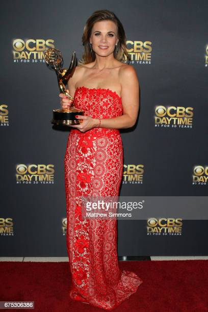 Actress Gina Tognoni attends the CBS Daytime Emmy after party at Pasadena Civic Auditorium on April 30 2017 in Pasadena California