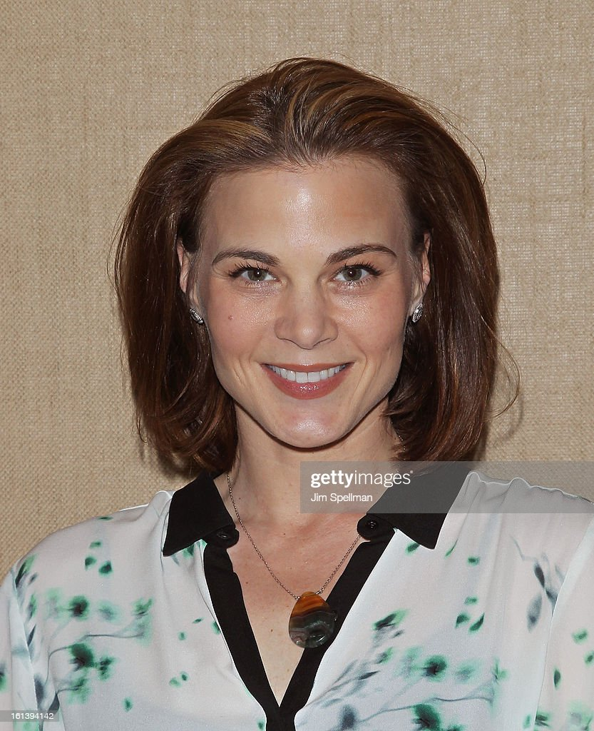 Actress Gina Tognoni attends the 'Spontaneous Construction' premiere at Guy?s American Kitchen & Bar on February 10, 2013 in New York City.