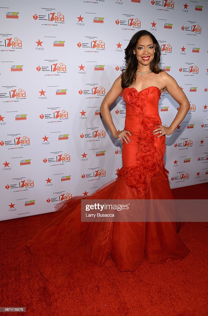 Actress <a gi-track='captionPersonalityLinkClicked' href=/galleries/search?phrase=Gina+Torres&family=editorial&specificpeople=581171 ng-click='$event.stopPropagation()'>Gina Torres</a> attends Go Red For Women The Heart Truth Red Dress Collection 2014 Show Made Possible By Macy's And SUBWAY Restaurants at The Theatre at Lincoln Center on February 6, 2014 in New York City.