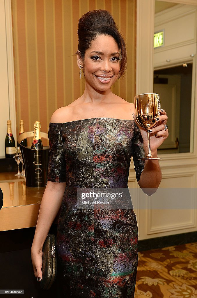 Actress Gina Torres attends The National Hispanic Media Coalition Impact Awards sponsored by Moet & Chandon at the Beverly Wilshire Four Seasons Hotel on February 22, 2013 in Beverly Hills, California.