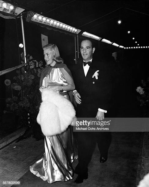 Actress Ginger Rogers with friend attend an event in Los Angeles California